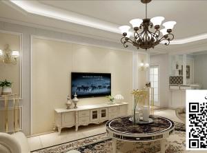 科吉星集成墙板欧式风格客厅装修效果图
