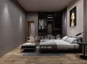 科吉星集成墙板卧室装修图,轻奢风卧室效果图