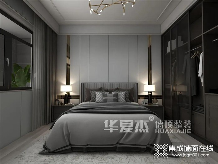 华夏杰墙顶整装全国设计大咖优秀作品赏析:永不过时的高级灰体现高品质现代轻奢