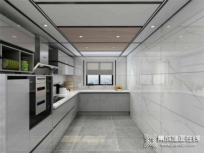 鼎美无胶大板打造的厨房窗明几净,烹饪的心情都变好了