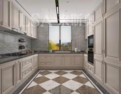 来斯奥顶墙厨房铝晶大板系列产品效果图