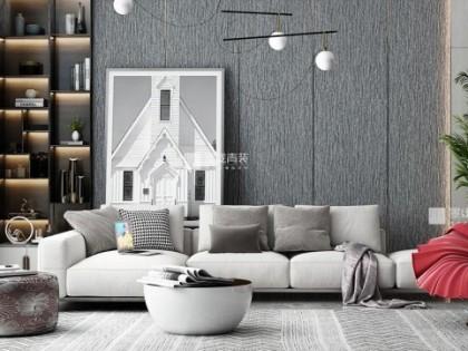 墨線青裝牆品-布纹墙板系列