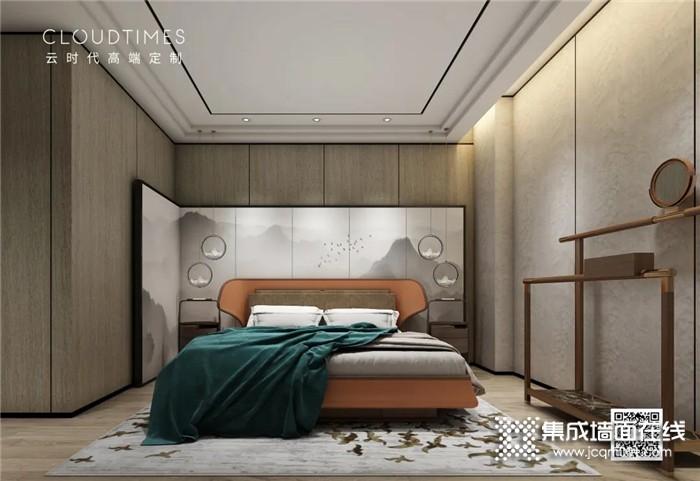 打造高级感的卧室,就选择云时代背景墙!