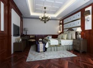 高贵古典的美式风格集成墙面装修案例