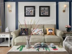 吉柏利集成墙面-美式客厅
