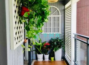 享时光花园阳台装修实拍案例|8.7平方米大阳台