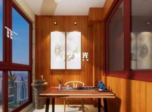 享时光阳台装修实景案例|被年轻人抛弃的中式茶室