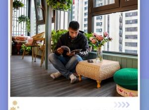 喜鹊林木阳台实景装修案例欣赏