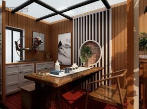 喜鹊林木阳台之中式风格装修效果图