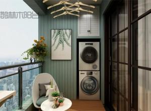 喜鹊林木阳台之现代风格装修效果图