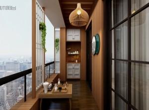 喜鹊林木阳台之简约日式风格装修效果图