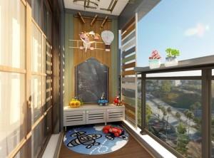 好花园阳台图片,日式系列装修效果图