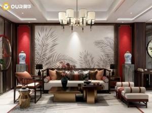 奥华顶墙:284㎡别致雅居新中式风装修效果图