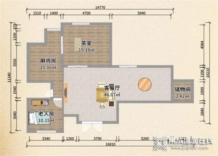 94㎡舒適養老房如何帶棋牌室和茶室?奧華設計師為您一套量身定做設計方案!
