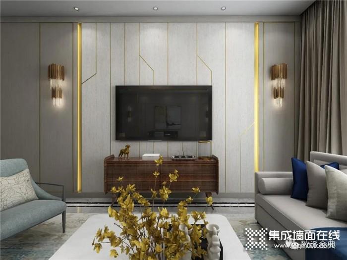 时尚简约的欧派金典现代客厅装修设计,有颜值有气质!