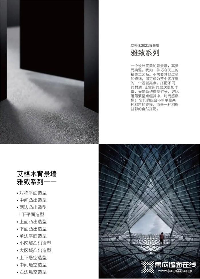 艾格木2021新款背景墙-II雅致系列~