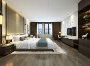 旭狮裝配式快裝新中式风格图片,卧室装修图