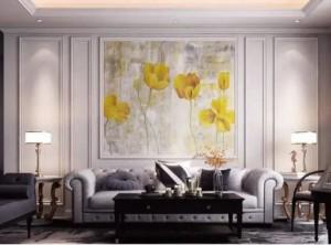 品格背景墙装修图,集成墙板背景墙效果图