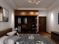 朋菲特中式棕色衣柜