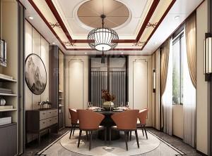 派格森顶墙新中式风格装修图,客厅新中式效果图