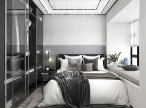 蓝姆特顶墙80平方装修实例效果图,现代极简风