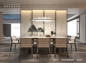 云时代全屋整装餐厅背景墙装修效果图