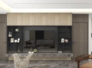 法狮龙客厅吊顶背景墙装修实例