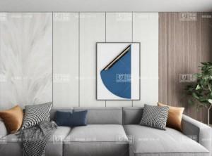 现代简约风格背景墙,金盾顶美蜂窝岩板背景墙案例