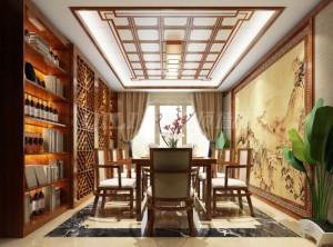 奇力顶墙中式风格装修图,这就是中式的盛世美颜